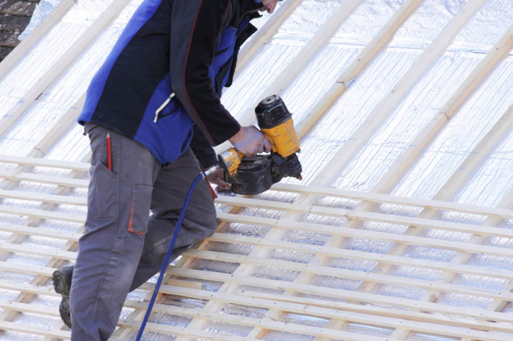 Grand Building and Remodeling uses professional to rebuild roofs